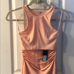 Miami Hot Styles Blush stretch dress with cut out